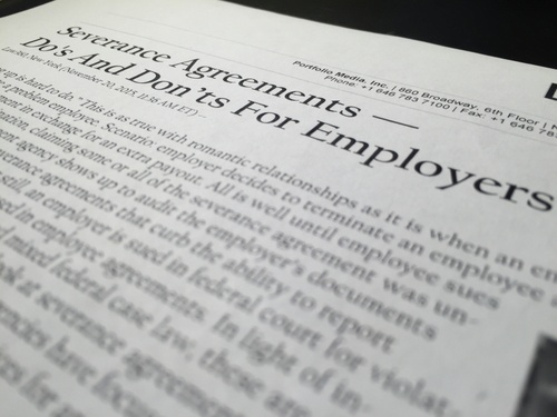 Severance Agreements Dos And Donts For Employers Paul Plevin